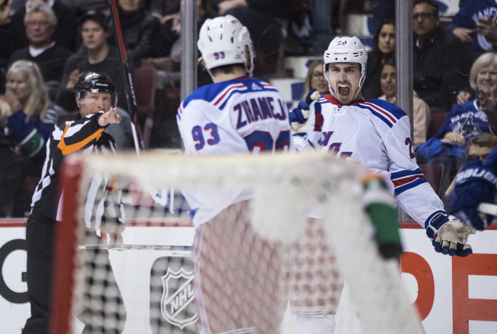 08c2c051647 Gilmour s goal in OT lifts Rangers to 6-5 win...