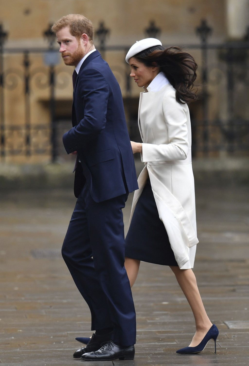 Britain's Prince Harry and Meghan Markle, arrive for the Commonwealth Service at Westminster Abbey in London, Monday March 12, 2018. The service marks