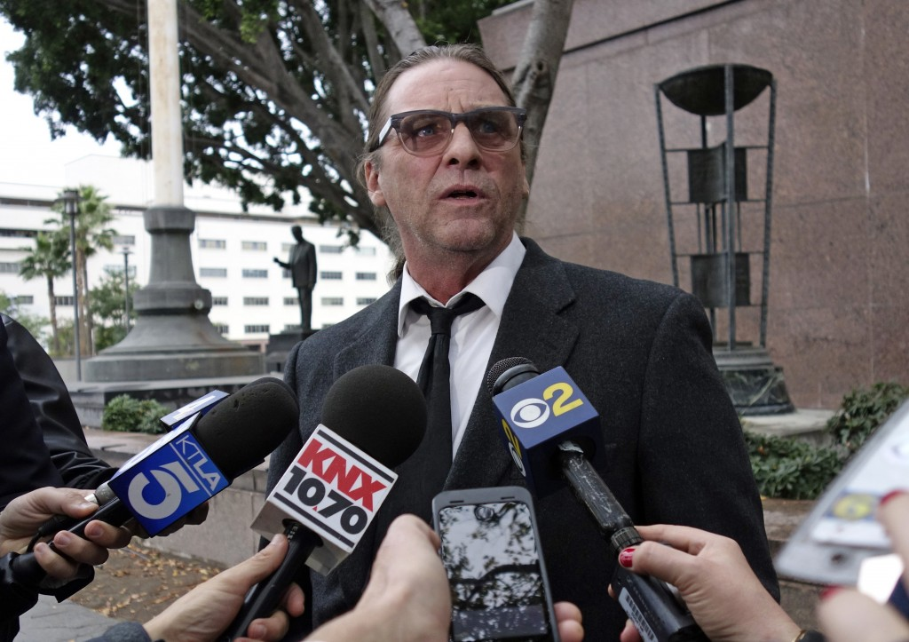 FILE - In this Jan. 8, 2018, file photo, Michael Channels speaks to reporters after a hearing in Los Angeles Superior Court in Los Angeles. A Kern Cou