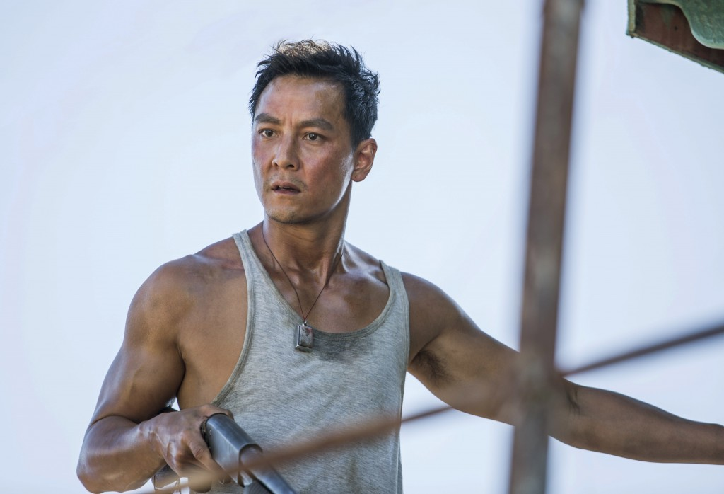 """This image released by Warner Bros. Pictures shows Daniel Wu in a scene from """"Tomb Raider."""" (Ilze Kitshoff/Warner Bros. Pictures via AP)"""
