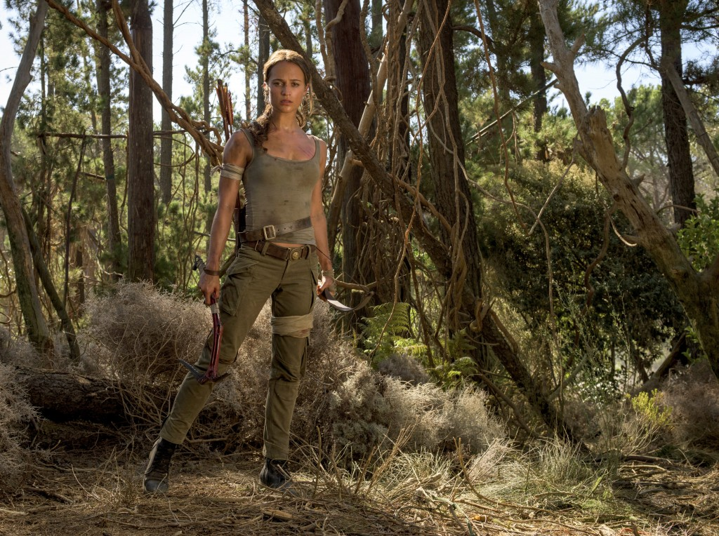 """This image released by Warner Bros. Pictures shows Alicia Vikander in a scene from """"Tomb Raider."""" (Graham Bartholomew/Warner Bros. Pictures via AP)"""