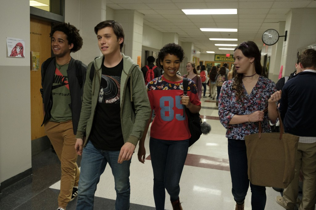 "This image released by Twentieth Century Fox shows Jorge Lendeborg, Nick Robinson, Alexandra Shipp and Katherine Langford in ""Love, Simon."" (Ben Roths"
