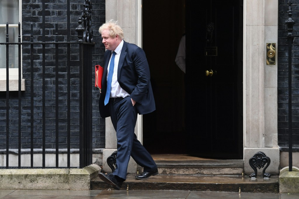 Britain's Foreign Secretary Boris Johnson leaves 10 Downing Street after Prime Minister Theresa May summoned people to a meeting of the National Secur