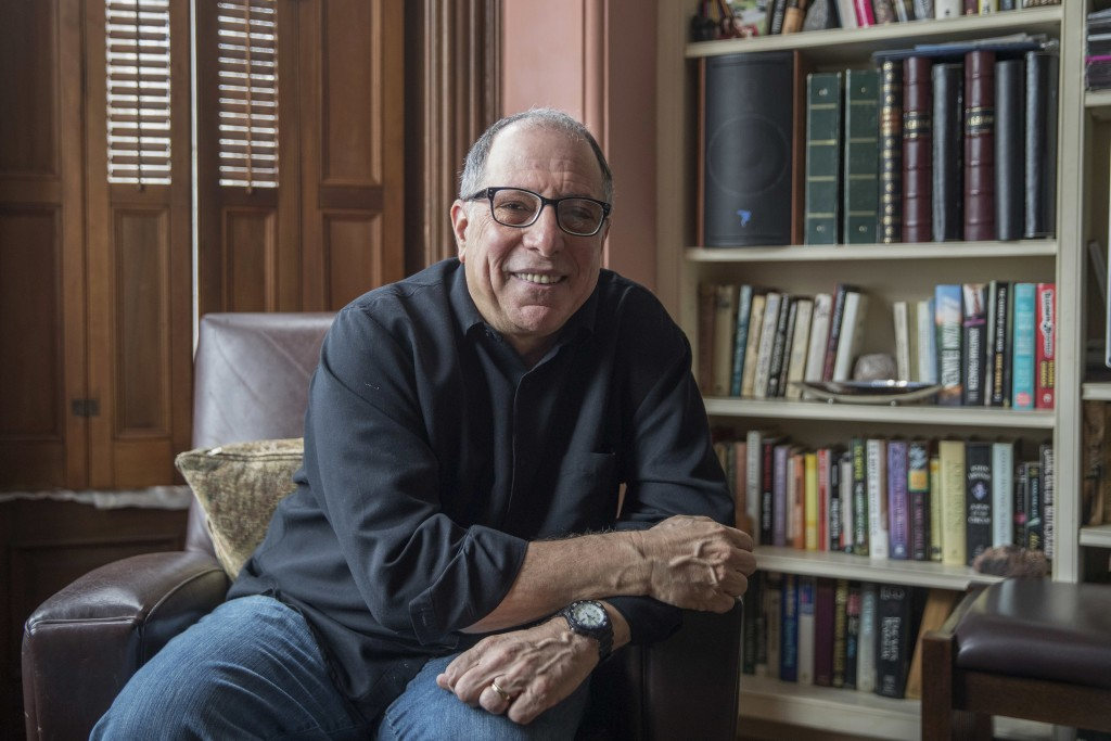 """This Saturday, March 10, 2018 photo shows Michael Kimmel at his home in New York. Kimmel is a leader in what's known as """"masculinities studies,"""" and a"""