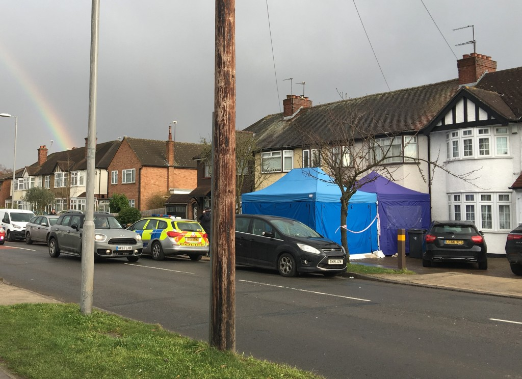 Police activity at a residential address in southwest London, Tuesday March 13, 2018.  According to a police statement Tuesday a Russian businessman n