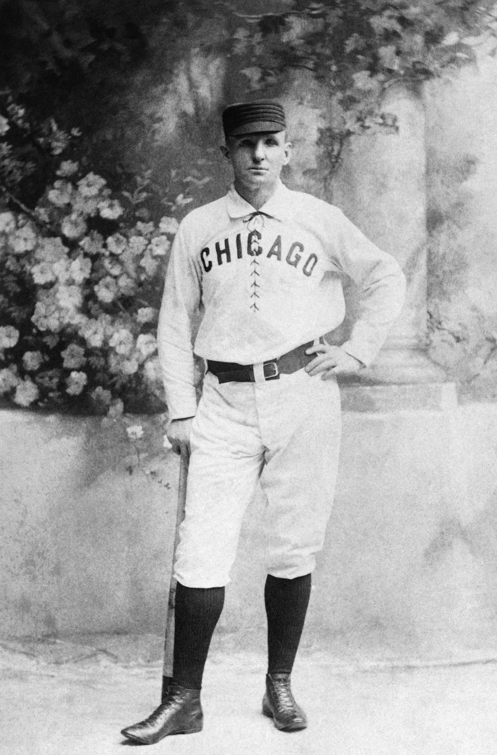 "FILE - This is a circa 1876 file photo showing Chicago White Stockings baseball player Adrian ""Cap"" Anson. Anson played 27 big-league seasons. (AP Pho"