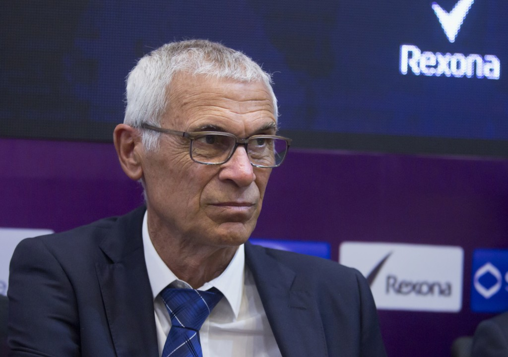 In this Tuesday, March 13, 2018 photo, Argentinian coach of the Egyptian national soccer team, Hector Cuper, gives a press conference at the Egyptian