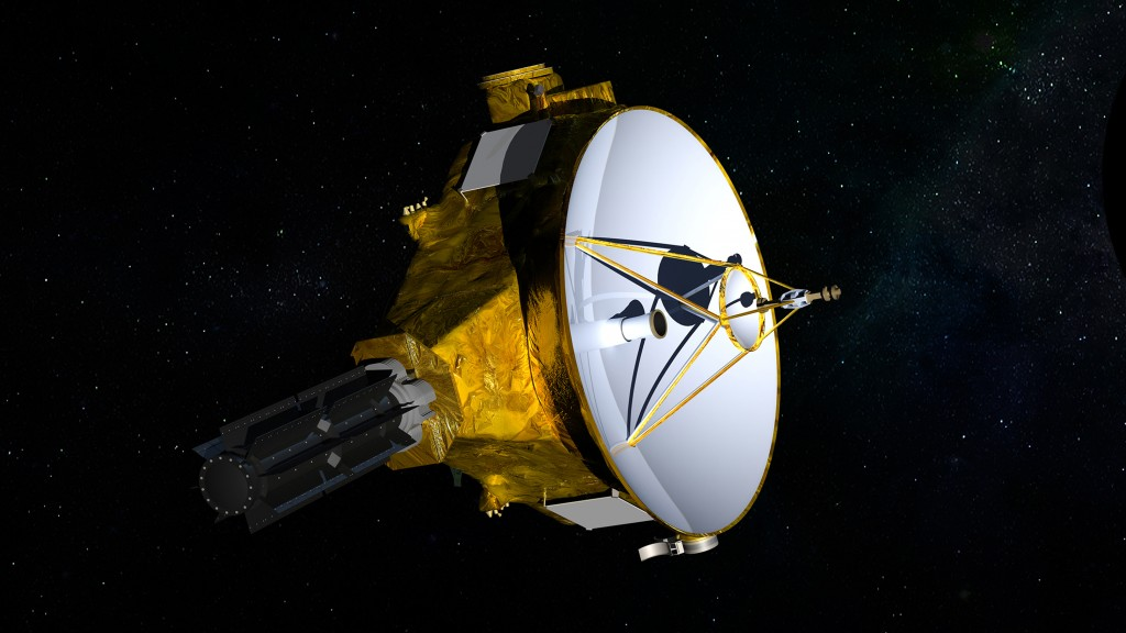 This illustration provided by NASA shows the New Horizons spacecraft. On Wednesday, March 14, 2018, NASA said the spacecraft is headed toward a New Ye