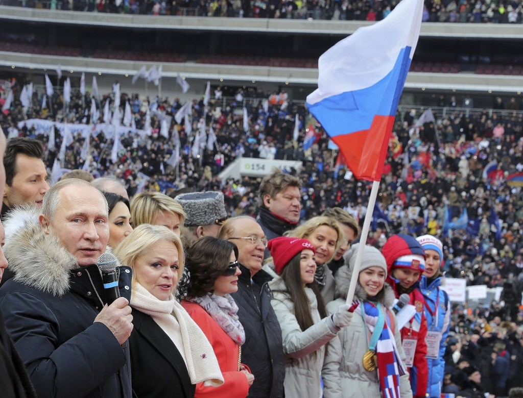 Russian President Vladimir Putin Re-Elected, Wins by a Landslide