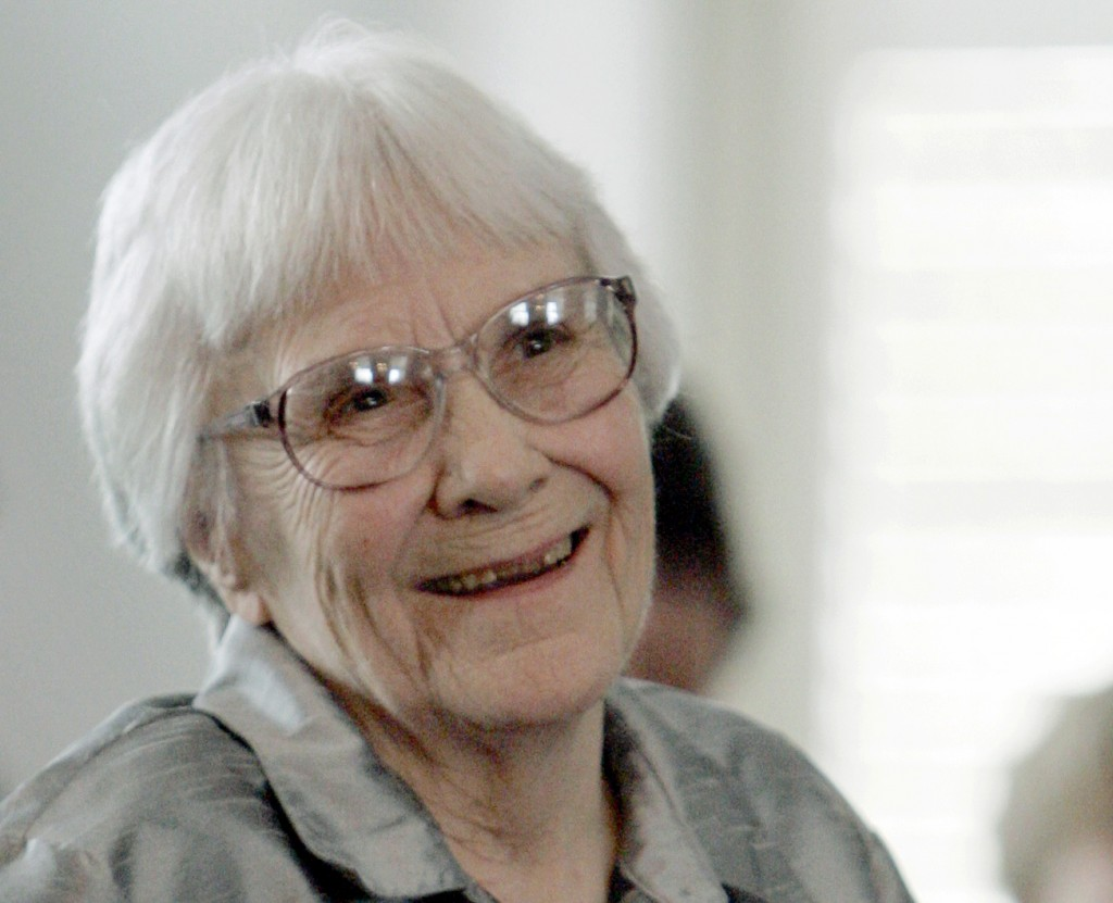 FILE - In this Aug. 20, 2007 file photo, author Harper Lee smiles during a ceremony honoring the four new members of the Alabama Academy of Honor at t