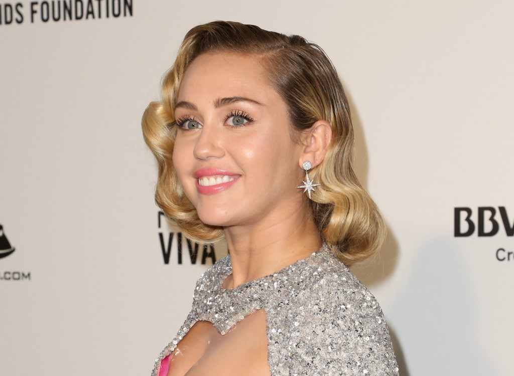 FILE - In this March 4, 2018 file photo, Miley Cyrus arrives at the 2018 Elton John AIDS Foundation Oscar Viewing Party in West Hollywood, Calif. Jama