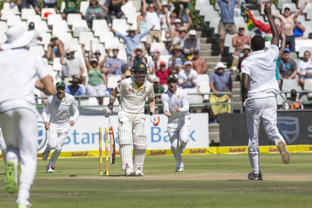 South Africa's Kagiso Rabada wins duel with David Warner