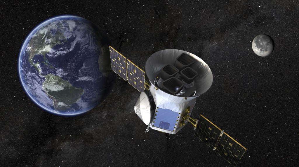 This image made available by NASA shows an illustration of the Transiting Exoplanet Survey Satellite (TESS). Scheduled for an April 2018 launch, the s