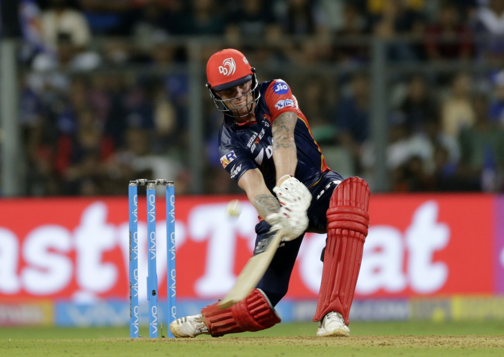 Delhi Daredevils player Jason Roy bats against Mumbai Indians during VIVO IPL cricket T20 match in Mumbai India Saturday