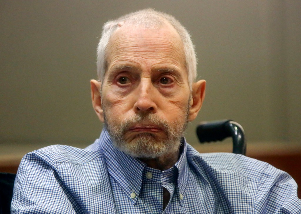 FILE - In this Friday, Jan. 6, 2017, file photo, real estate heir Robert Durst appears in a Los Angeles Superior Court Airport Branch for a pretrial m