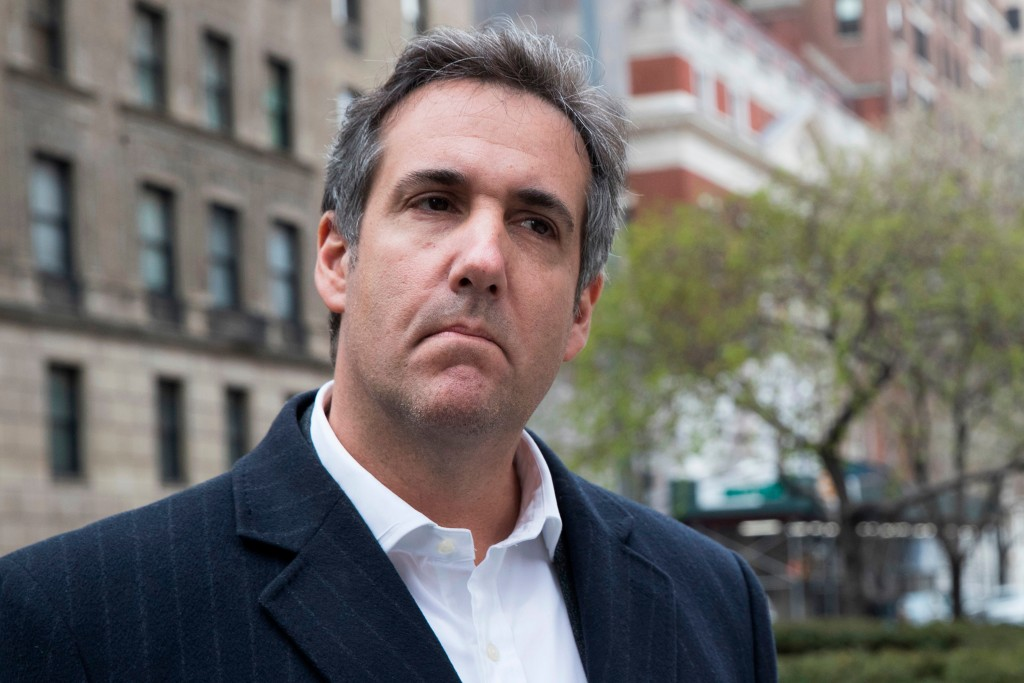 FILE - This April 11, 2018 file photo shows attorney Michael Cohen in New York. President Donald Trump said Sunday, April 15, 2018, that all lawyers a