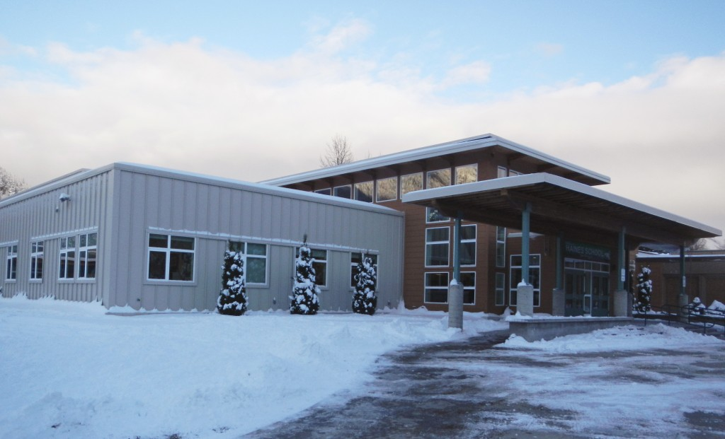 This November 2015 provided by the Alaska State Department of Education and Early Development shows Haines School, in Haines, Alaska. The high school