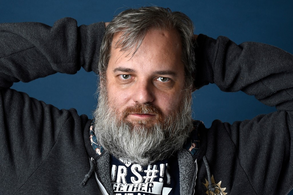 FILE - In this Friday, July 21, 2017 file photo, Dan Harmon poses for a portrait during Comic-Con International in San Diego. After comedy writer Mega