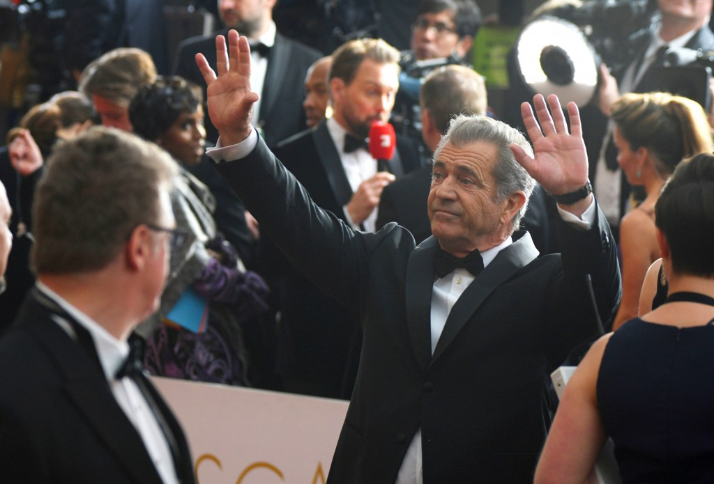 FILE - In this Sunday, Feb. 26, 2017 file photo, Mel Gibson arrives at the Oscars at the Dolby Theatre in Los Angeles. Lesley Wexler, a professor of l