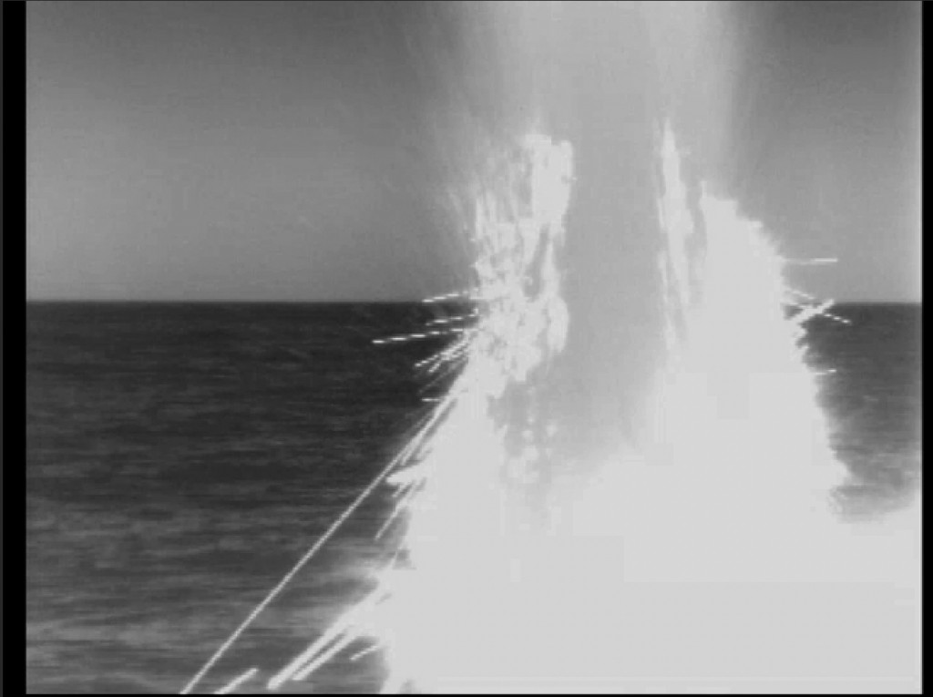 CORRECTS YEAR TO 2018 FROM 2014 - In this image from video provided by the U.S. Navy, a U.S. fast-attack submarine launches a tomahawk missile on Apri...