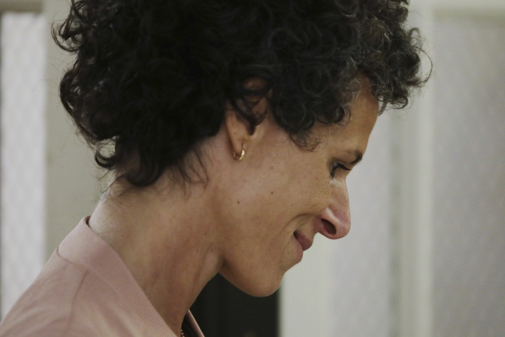 Andrea Constand arrives to resume her testimony during Bill Cosby's sexual assault retrial at the Montgomery County Courthouse in Norristown, Pa., Mon
