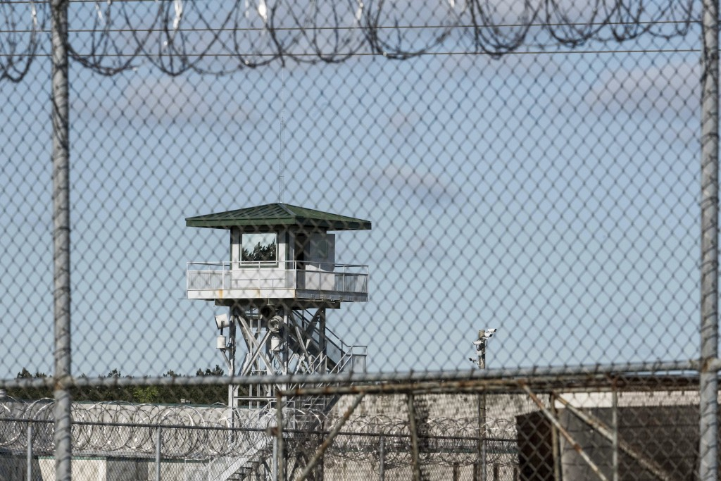 FILE - In this April 16, 2018, file photo, a guard tower stands above the Lee Correctional Institution, a maximum security prison in Bishopville, S.C.