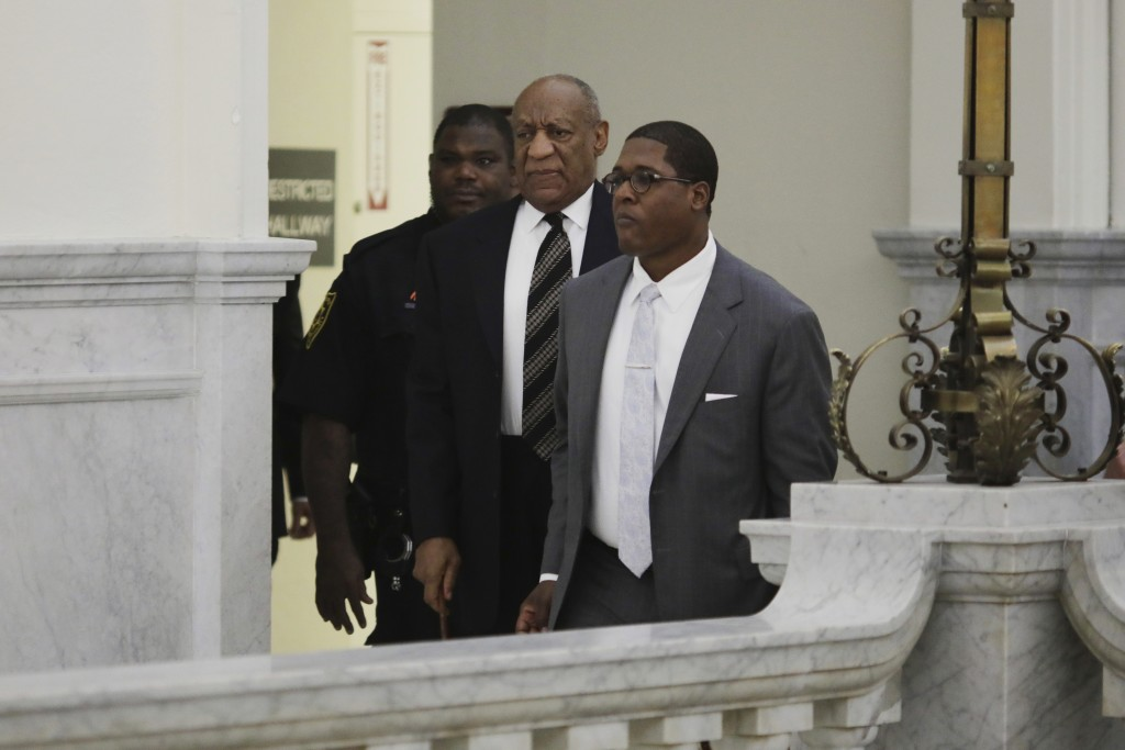 Actor and comedian Bill Cosby arrives for his sexual assault retrial at the Montgomery County Courthouse at the Montgomery County Courthouse in Norris