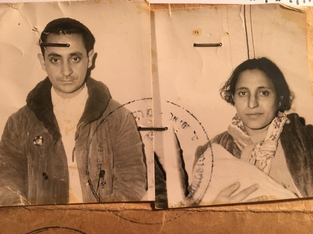 "This undated photo made available by David Deri, the director of the documentary series, ""The Ancestral Sin,"" shows photographs of Masud Deri, left, a"