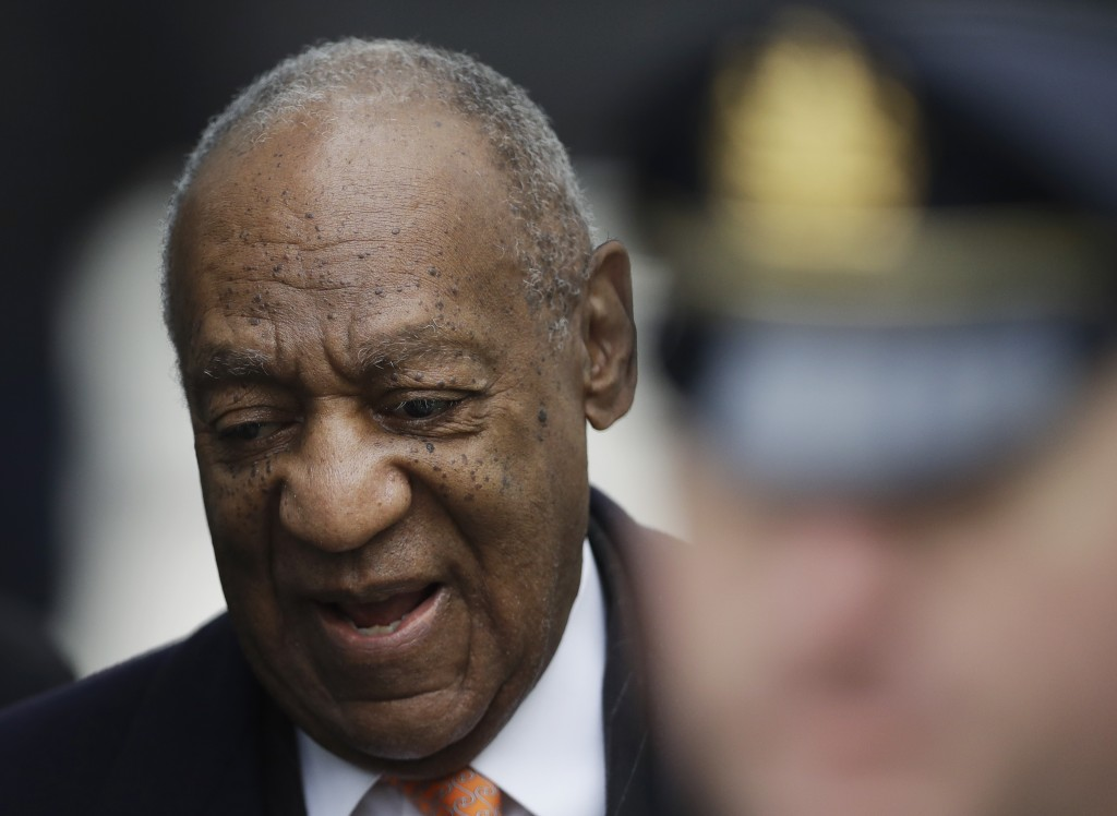 Bill Cosby arrives for his sexual assault trial, Tuesday, April 17, 2018, at the Montgomery County Courthouse in Norristown, Pa. (AP Photo/Matt Slocum