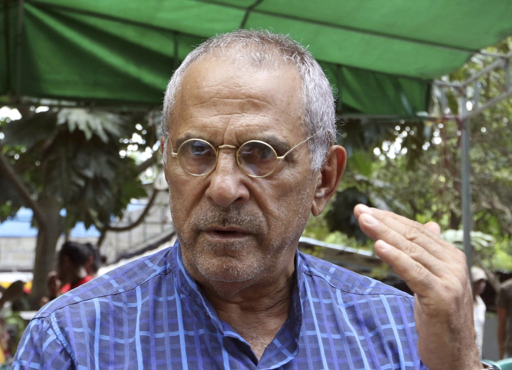 In this Saturday, April 14, 2018, photo, Nobel peace prize laureate and former East Timorese President Jose Ramos-Horta talks to journalists in Dili, ...