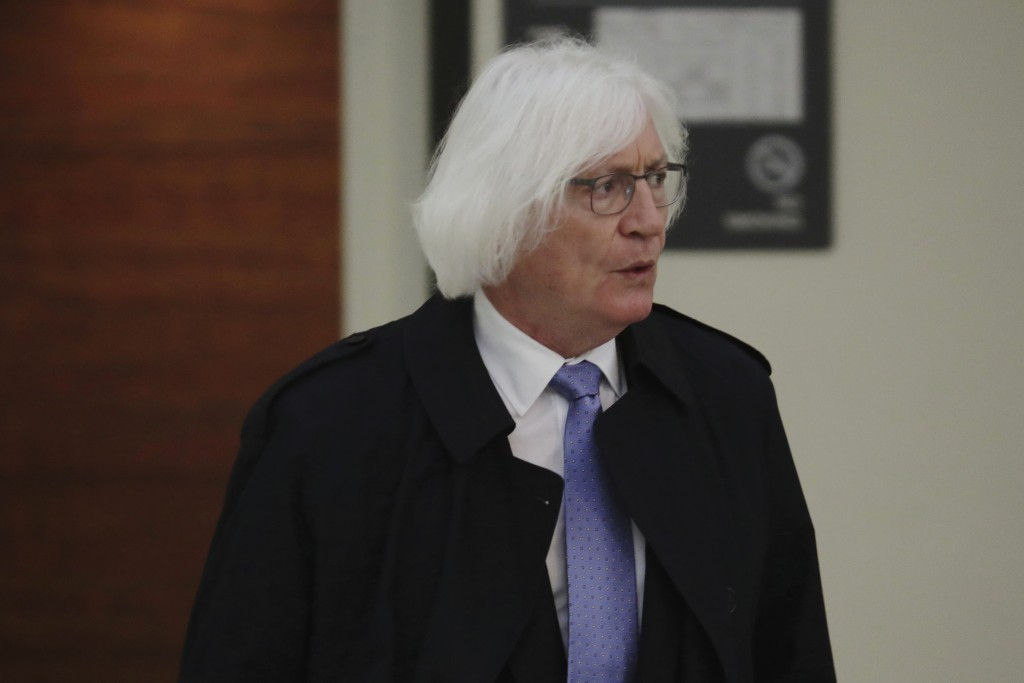 Tom Mesereau, lawyer for actor and comedian Bill Cosby, arrives at the Montgomery County Courthouse in Norristown, Pa., Monday, April 16, 2018. (Domin