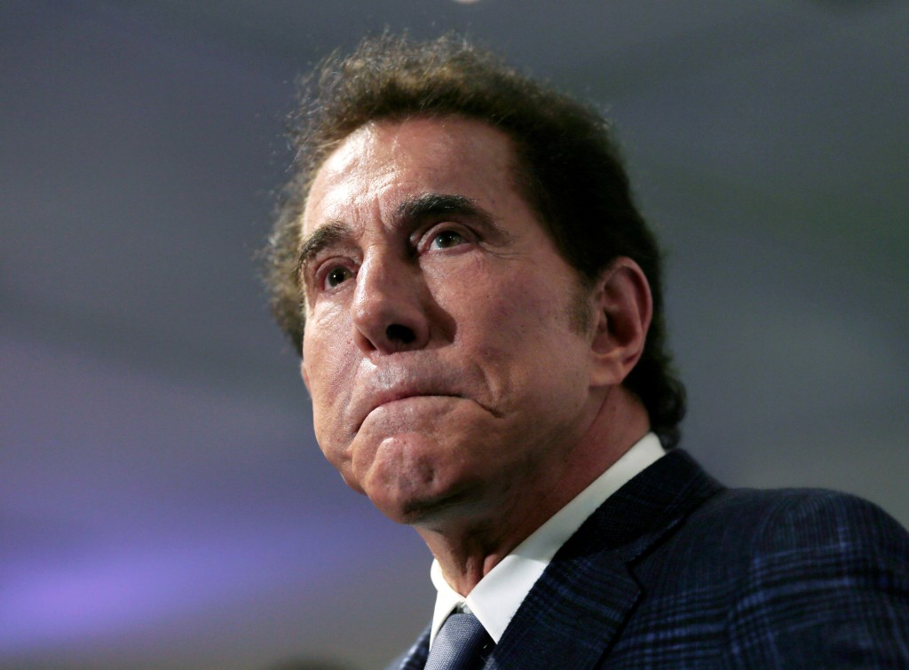 FILE - This March 15, 2016, file photo, shows casino mogul Steve Wynn at a news conference in Medford, Mass. A six-year boardroom battle involving the