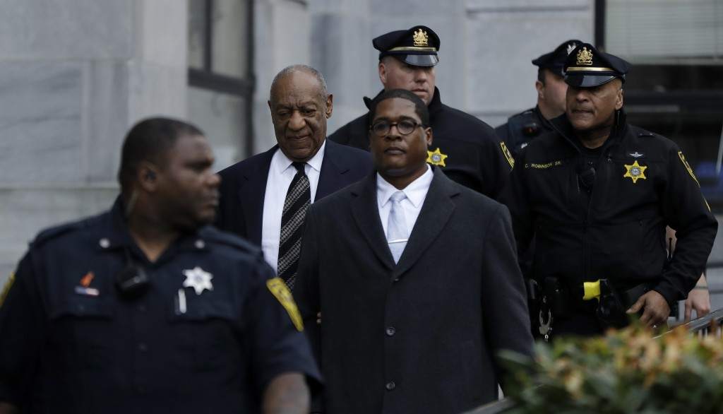 Bill Cosby departs after his sexual assault retrial, Monday, April 16, 2018, at the Montgomery County Courthouse in Norristown, Pa. (AP Photo/Matt Slo