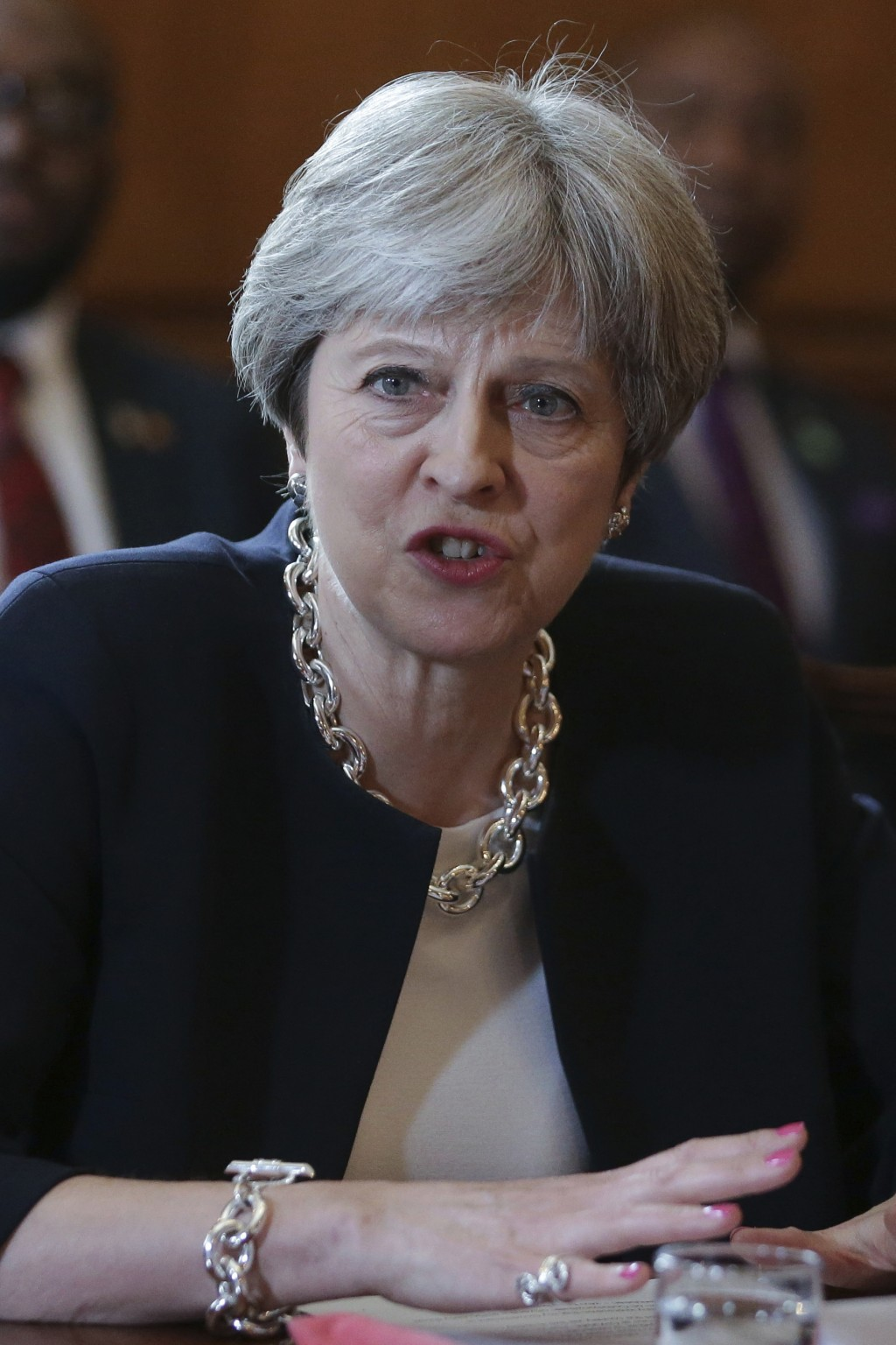Britain's Prime Minister Theresa May hosts a meeting with leaders and representatives of Caribbean countries, inside 10 Downing Street in central Lond