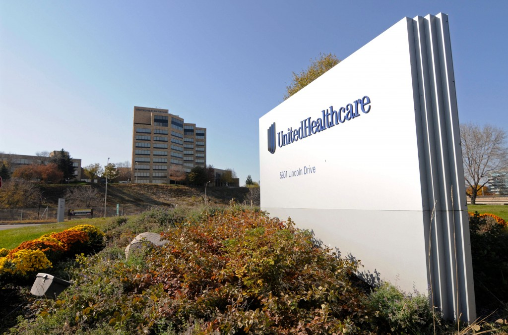 FILE - This Oct. 16, 2012, file photo, shows a portion of the UnitedHealth Group Inc.'s campus in Minnetonka, Minn. UnitedHealth Group reports earning