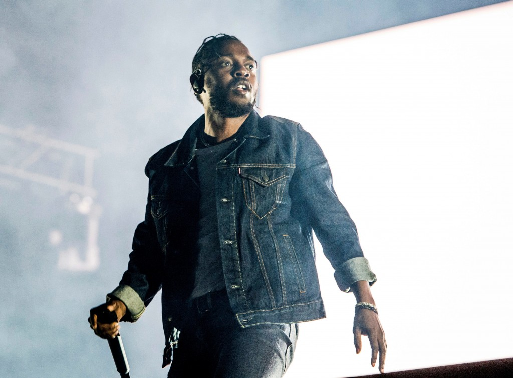 FILE - In this July 7, 2017, file photo, Kendrick Lamar performs during the Festival d'ete de Quebec in Quebec City, Canada.On Monday, April 16, 2018,