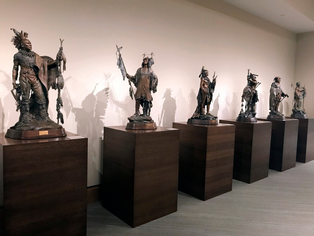 This April 11, 2018 photo shows an installation view inside the James Museum of Western & Wildlife Art in St. Petersburg, Fla. When you think of Flori