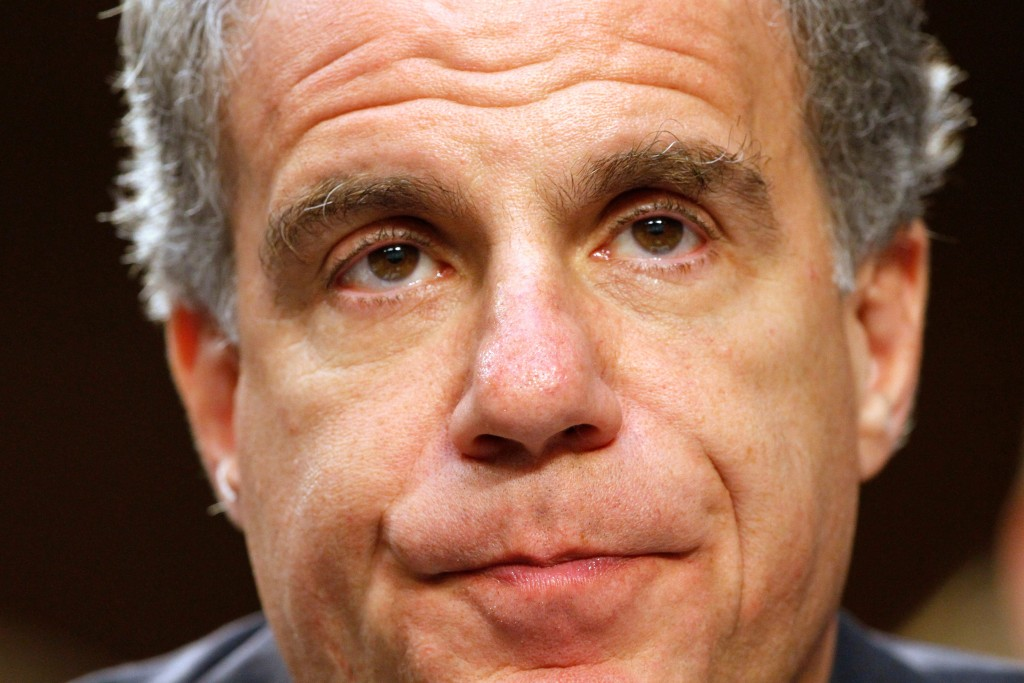 FILE - in this July 26, 2017, file photo, Michael Horowitz, inspector general at the Justice Department, pauses while testifying on Capitol Hill in Wa...