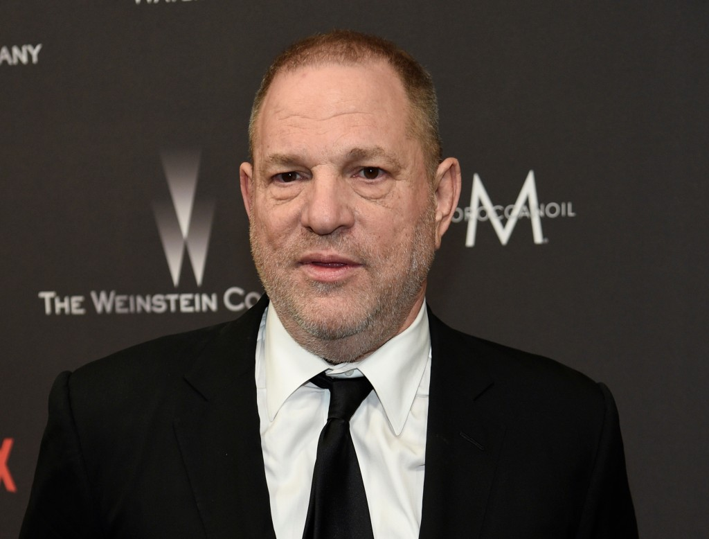 FILE - In this Jan. 8, 2017, file photo, Harvey Weinstein arrives at The Weinstein Company and Netflix Golden Globes afterparty in Beverly Hills, Cali...