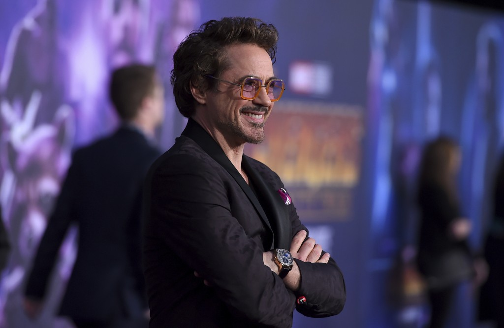 "Robert Downey Jr. arrives at the world premiere of ""Avengers: Infinity War"" on Monday, April 23, 2018, in Los Angeles. (Photo by Jordan Strauss/Invisi..."