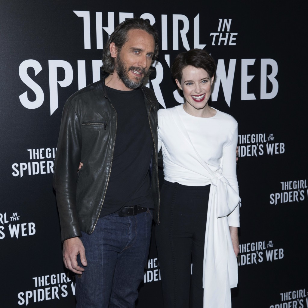 Fede Alvarez and Claire Foy attend CinemaCon at The Colosseum at Caesars, Monday April 23, 2018, in Las Vegas. (Photo by Eric Jamison/Invision/AP)