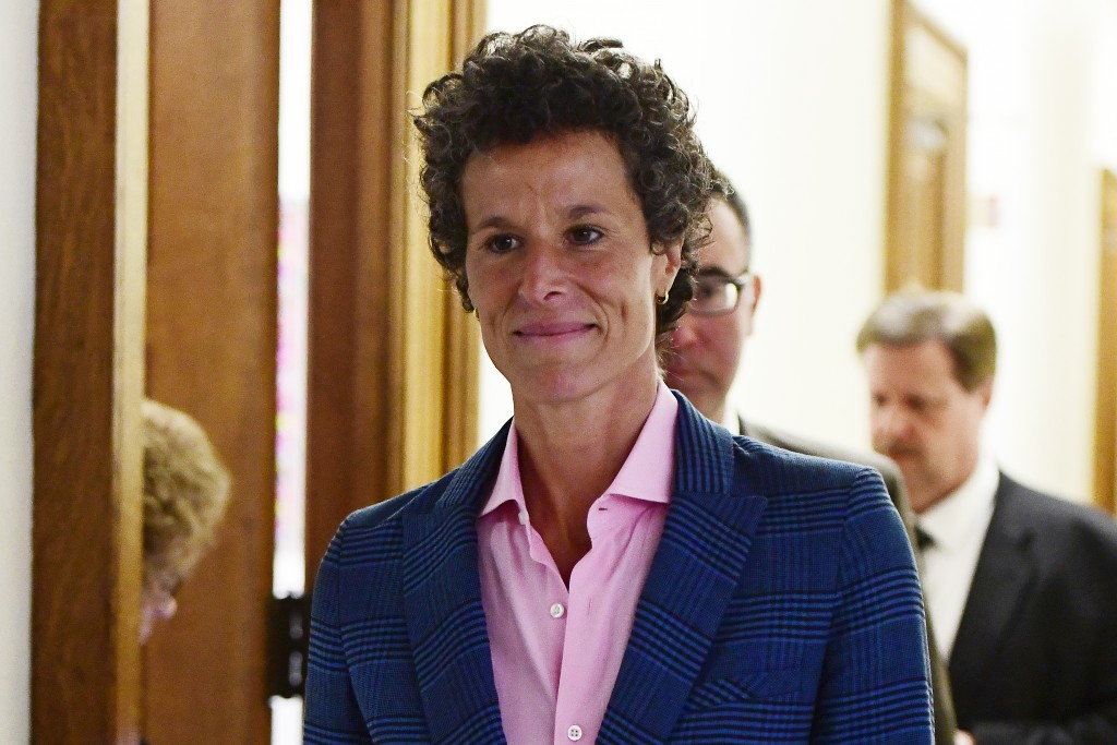 Andrea Constand, main accuser in the Bill Cosby trial, leaves courtroom A after testifying in the Bill Cosby sexual assault trial at the Montgomery Co...