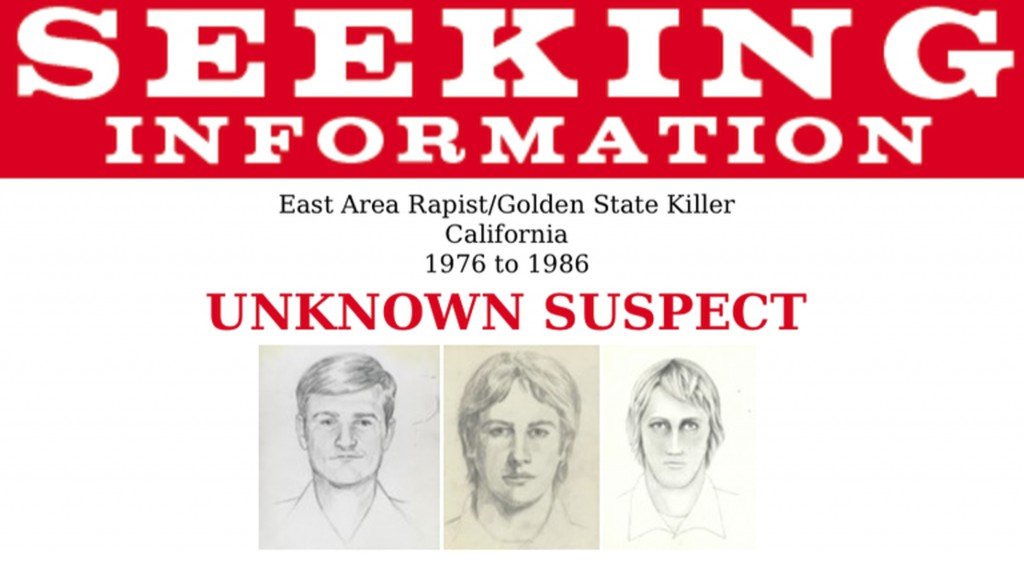 "This undated photo released by the FBI shows artist renderings of a serial killer and rapist, also known as the ""East Area Rapist"" and ""Golden State K..."