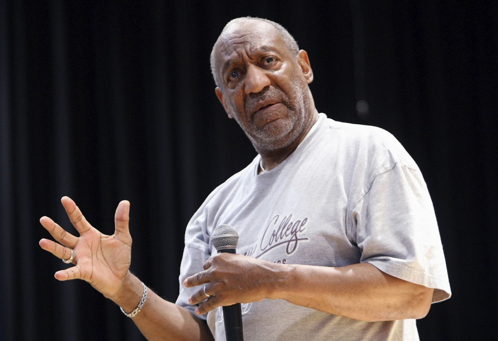 FILE - In this April 24, 2008 file photo, Bill Cosby speaks at a forum for at-risk youths, in Atlanta. On Thursday, April 26, 2018, Cosby was convicte...