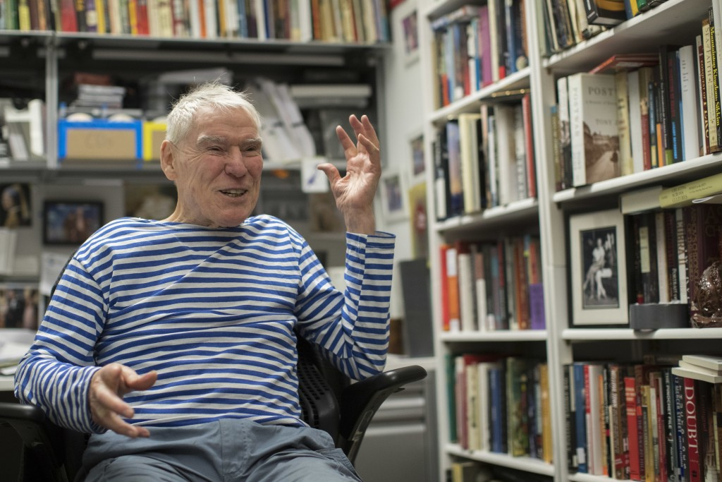 In this March 3, 2018 photo, dancer-choreographer Jacques d'Amboise appears during an interview in his office at the National Dance Institute in New Y...