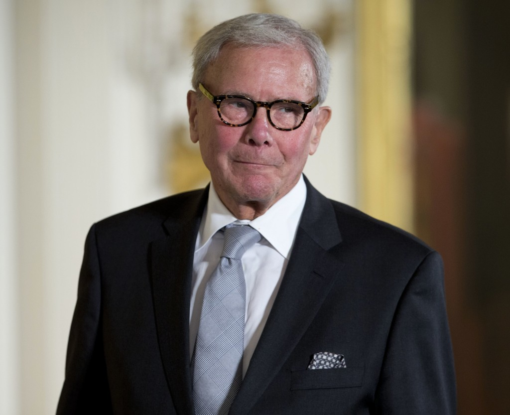 FILE - In this Nov. 24, 2014, file photo, journalist Tom Brokaw is introduced before being awarded the Presidential Medal of Freedom during a ceremony...