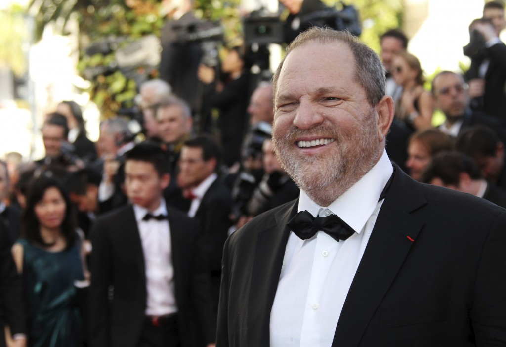 FILE - In this May 16, 2012 file photo producer Harvey Weinstein arrives for the opening ceremony and screening of Moonrise Kingdom at the 65th intern...