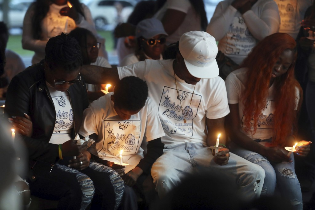 Shaundelle Brooks, mother of Antioch Waffle House shooting victim Akilah DaSilva, and siblings Aldane Brooks, Abede DaSilva and Tonia DaSilva, partici...