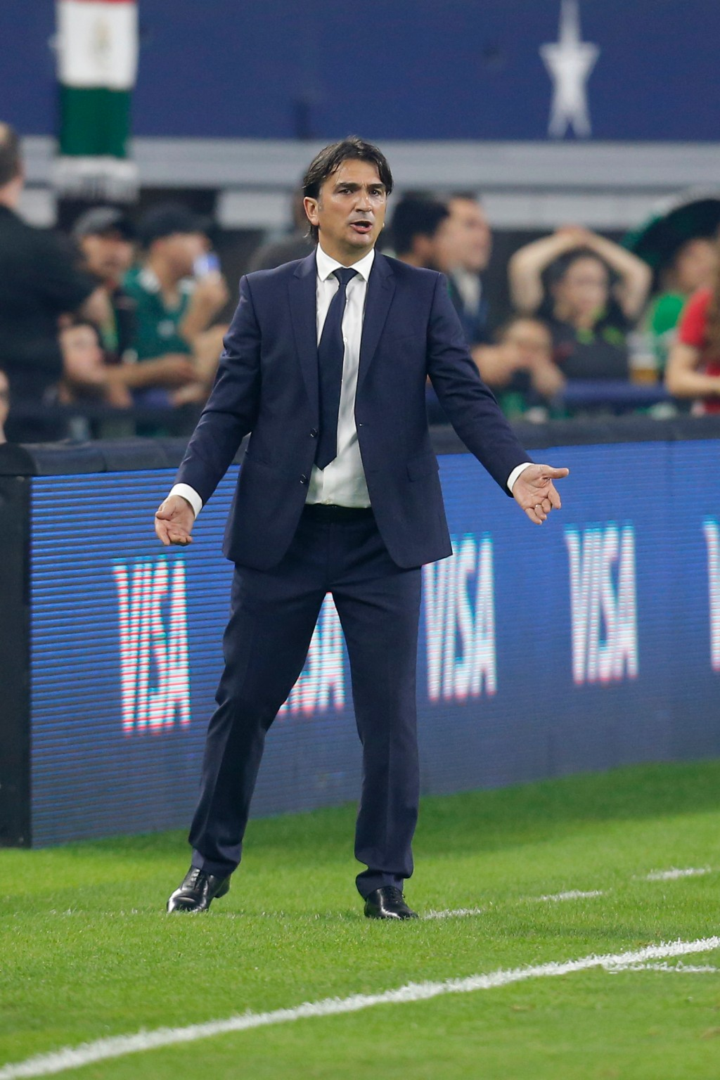 FILE - In this photo taken on Tuesday, March 27, 2018, Croatia head coach Zlatko Dalic watches play during the second half of an international friendl...