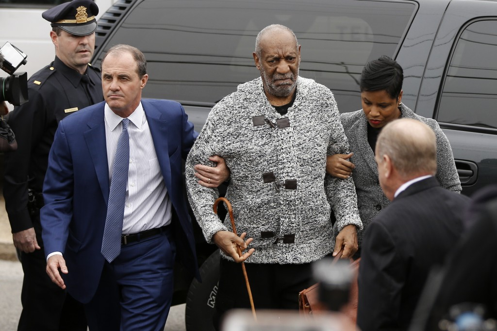 FILE - In this Dec. 30, 2015 file photo, Bill Cosby arrives at court to face a felony charge of aggravated indecent assault in Elkins Park, Pa. On Thu...
